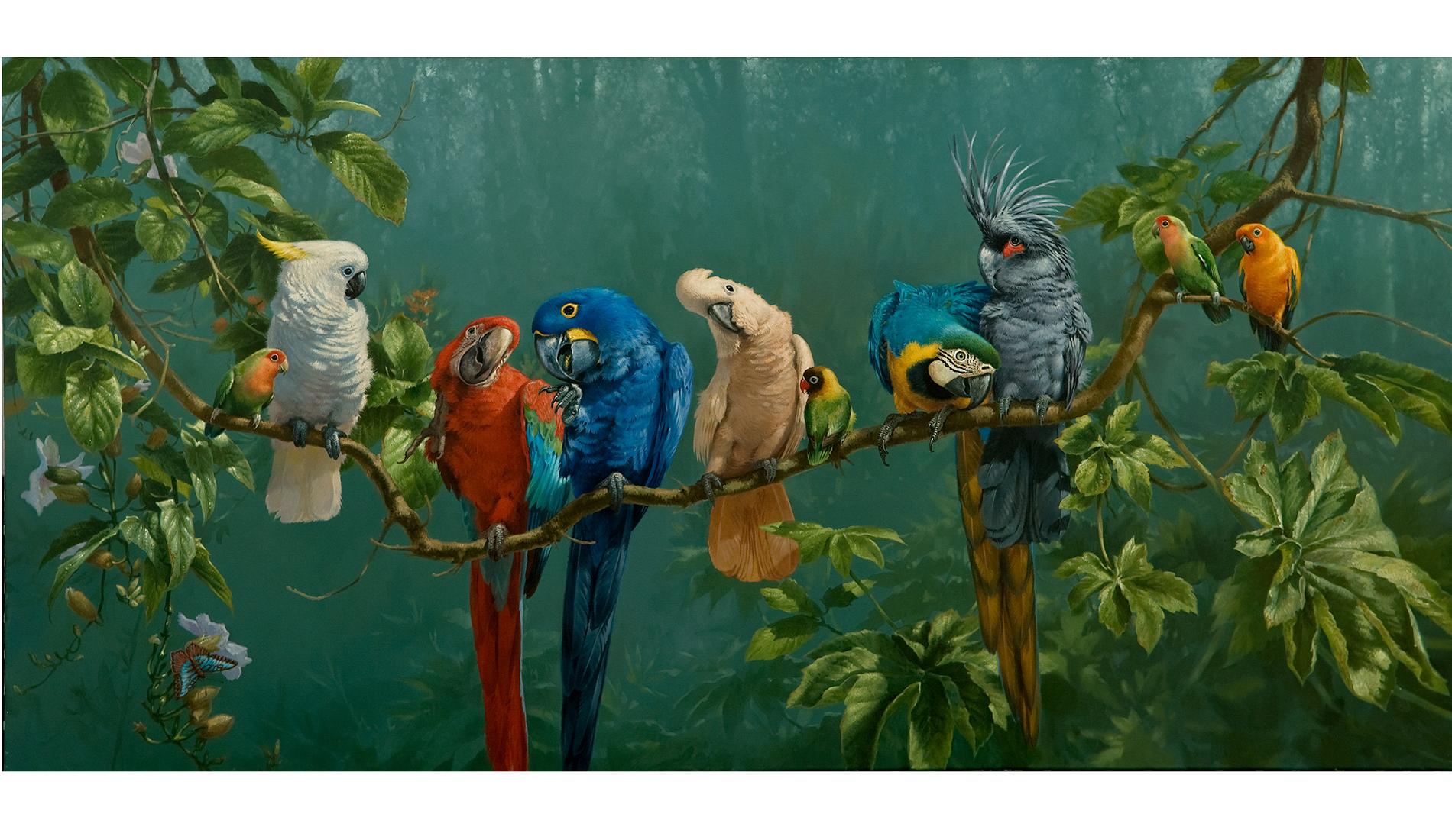 'Perroquets' by Michael Jackson Fine Artist